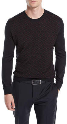 Stefano Ricci Men's Geometric-Pattern Cashmere Sweater