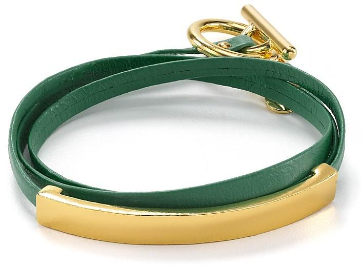 Gorjana Graham Leather ID Triple Wrap Bracelet
