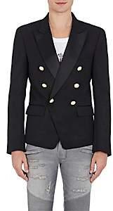 Balmain Men's Twill Double-Breasted Sportcoat - Black