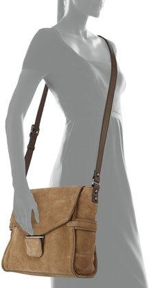 Kooba Taylor Suede Crossbody Bag, Taupe