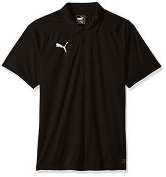 Puma Men's LIGA Sideline Polo, Black White, S