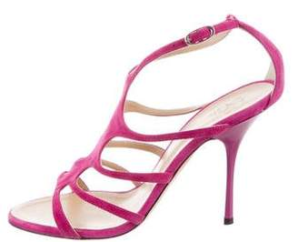 Barneys New York Barney's New York Caged Ankle Strap Sandals