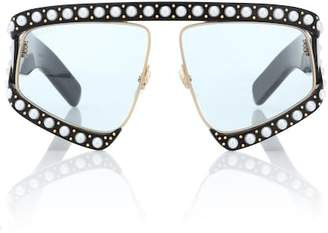 5f426953329 Gucci Faux pearl-embellished sunglasses