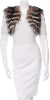 Oscar de la Renta Cropped Fox Fur Vest