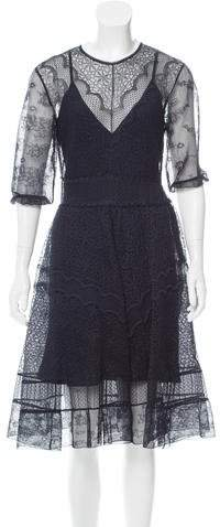 Christian Dior Lace Midi Dress