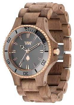 at eBay WeWood NEW Date MB Nut Rough Gun Metal Wood Watch by Branched eca920f53df