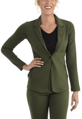 Fruit of the Loom Seek No Further Women's Long Sleeve Open Front Fitted Blazer
