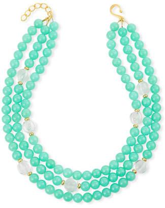 Dina Mackney 3-Strand Chrysoprase Jade Necklace