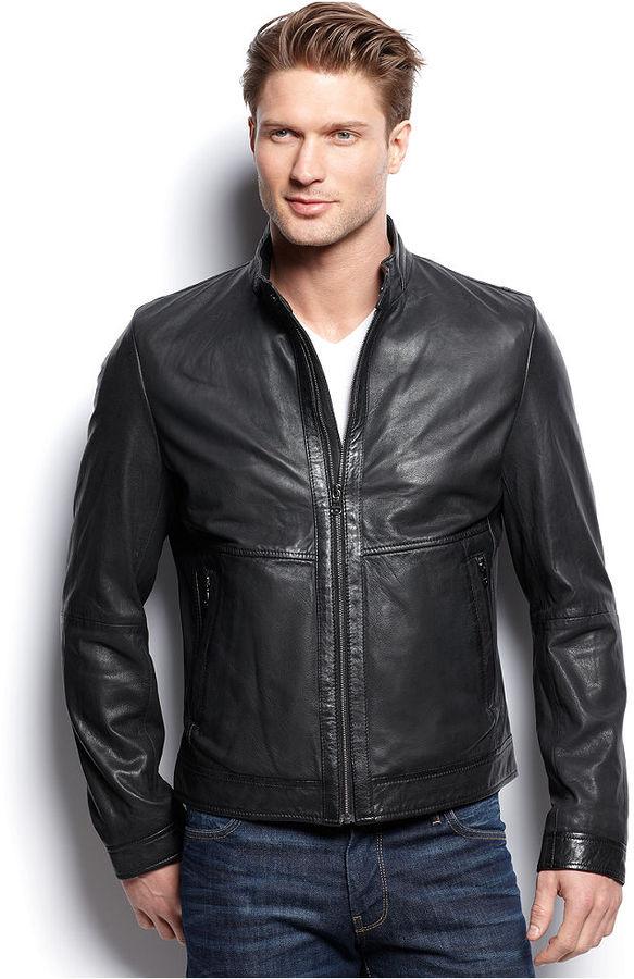 HUGO BOSS Gismo Leather Jacket