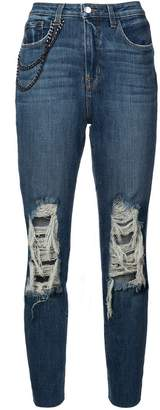 L'Agence Luna straight high rise jeans