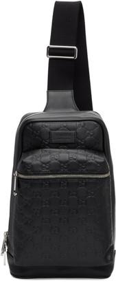 Gucci Black Signature Messenger Bag
