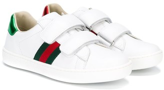 Gucci Kids touch fastening sneakers