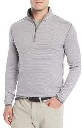 Peter Millar Men's Reversible Stripe Quarter-Zip Sweater