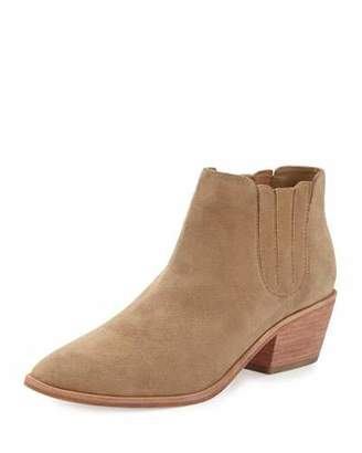 Joie Barlow Suede Pointed-Toe Bootie, Cement $325 thestylecure.com