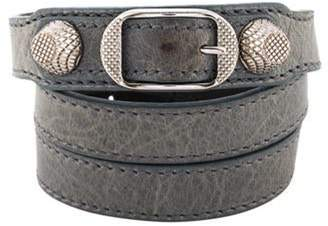 Balenciaga Leather Arena Giant Triple Tour Bracelet silver Leather Arena Giant Triple Tour Bracelet