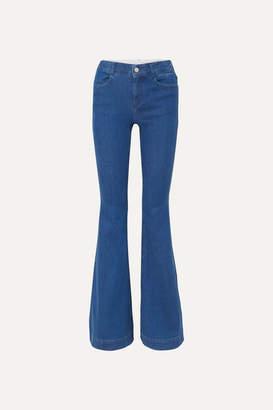 Stella McCartney + Net Sustain Organic High-rise Flared Jeans - Blue