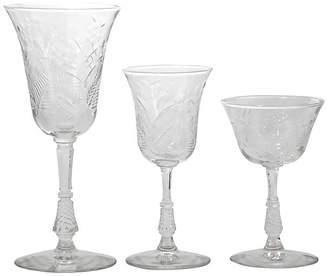One Kings Lane Vintage Cut Crystal Stemware - 21 Pcs