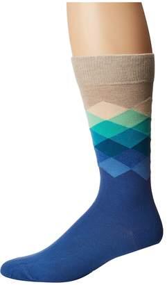 Happy Socks Faded Diamond Socks Men's Crew Cut Socks Shoes