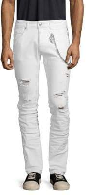 Pierre Balmain Chain Distressed Jeans