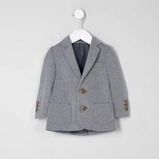 River Island Mini boys grey marl jersey blazer