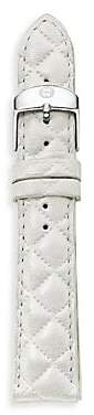 Michele Women's Urban Quilted Leather Watch Strap/16MM