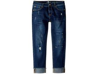 7 For All Mankind Kids Josephina Stretch Denim Jeans in Aggressive Madison (Big Kids)