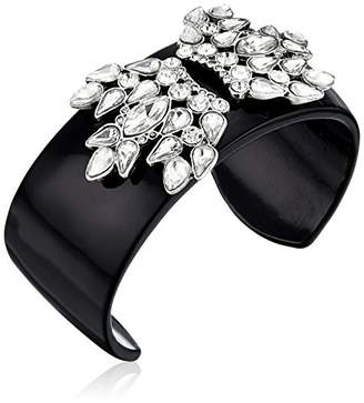 Sam Edelman Crystal Enamel Cuff Bracelet