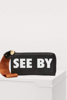 See by Chloe Joris logo zipped wallet