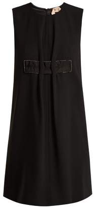 No.21 No. 21 - Crystal Embellished Crepe Shift Dress - Womens - Black