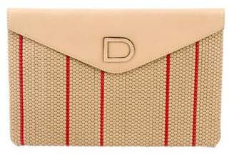 Delvaux Woven Envelope Clutch