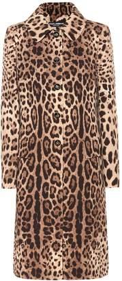Dolce & Gabbana Leopard-print wool coat