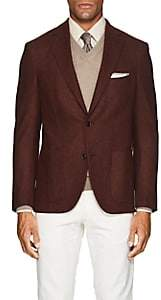 Luciano Barbera Men's Wool-Cashmere Flannel Two-Button Sportcoat - Wine