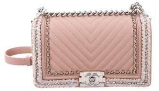 f51a7eda39f9 Chanel 2017 Chevron Braid Around Chain Large Boy Bag