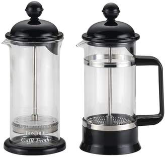 Bonjour La Petite Coffee French Press and Milk Frother Set (2 PC)