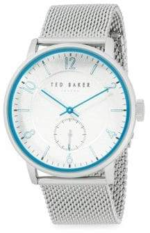 Ted Baker Stainless Steel Mesh Strap Watch