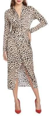 Rachel Roy Bret Leopard Jersey Wrap Dress