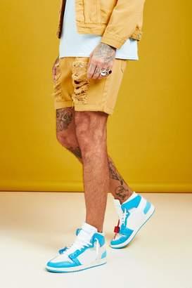 boohoo Slim Fit Distressed Denim Short