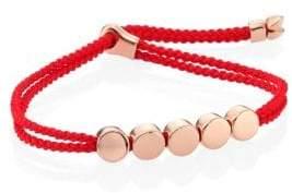 Monica Vinader Linear Bead Friendship Bracelet/Coral