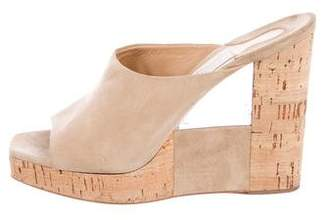 Salvatore Ferragamo Platform Slide Wedges