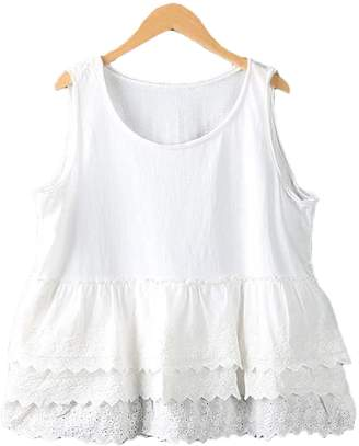 Goodnight Macaroon 'Rana' Ruffle Lace Sleeveless Top (3 Colors)