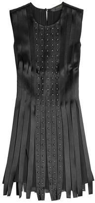 Versace Embellished Silk Dress