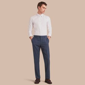 Burberry Modern Fit Wool Silk Blend Trousers $450 thestylecure.com