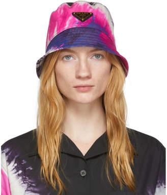 Prada Pink Tie Dye Bucket Hat