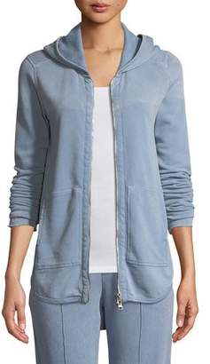 ATM Anthony Thomas Melillo Croma Wash Zip-Front French Terry Hoodie Sweatshirt