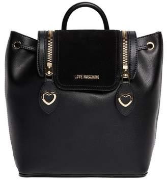 Love Moschino Love Zipper PU Leather Backpack
