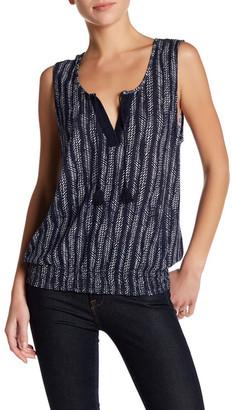 SUSINA Tassel Tie Linen Blend Knit Blouse $19.97 thestylecure.com