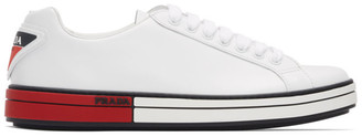 Prada White Leather Sneakers