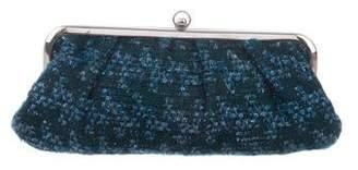 Marni Metallic Trim Tweed Clutch