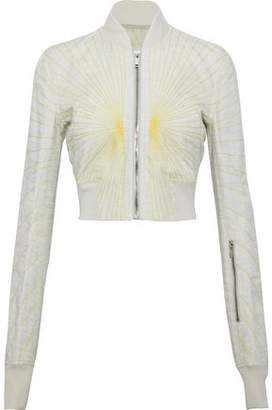 Rick Owens Glitter Flight Cropped Woven Bomber Jacket