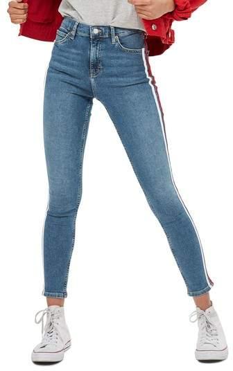 Topshop Jamie Side Stripe Jeans